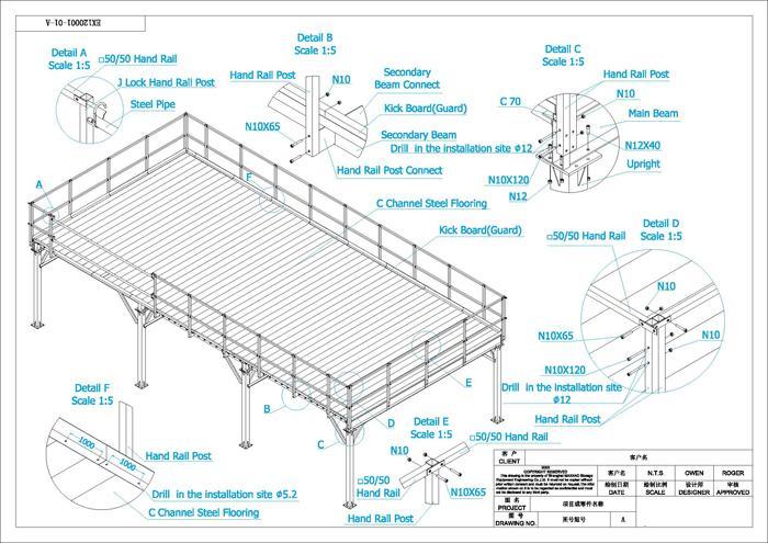 mezzanine floor assemble support