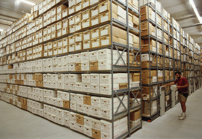 Storage shelving management