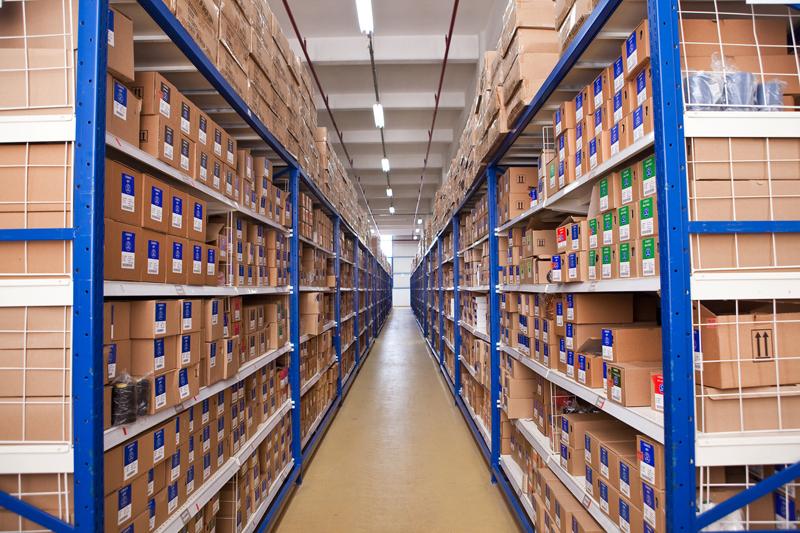 T-Racking storage shelves