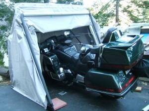 foldable motorcycle garage shelter