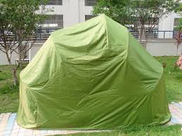parking motorcycle tent