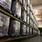 racking with goods